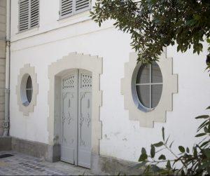 Restauration porte du bûcher propriété CAILLEBOTTE